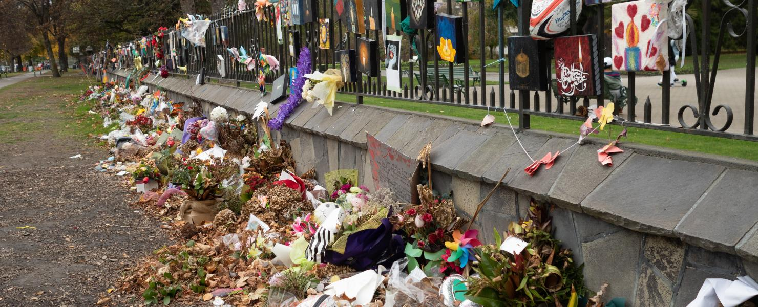 Memorial for New Zealand mosque shooting victims