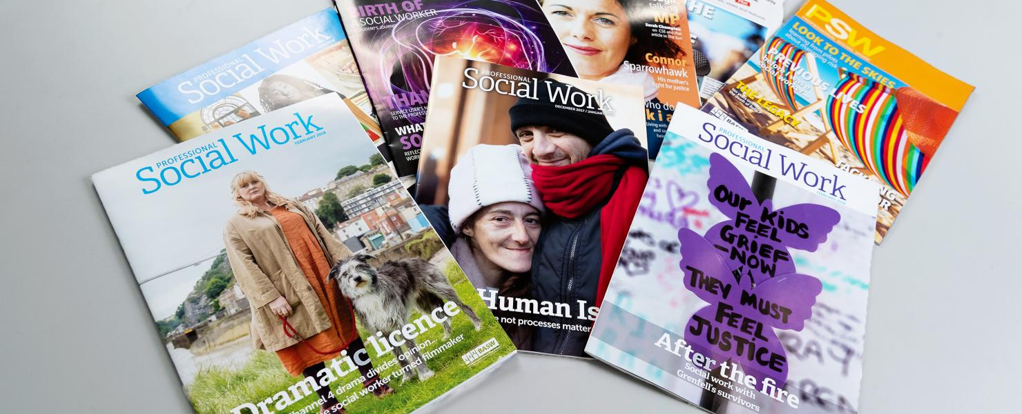 Selection of Professional Social Work magazines