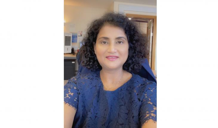 A photo of Sumita Verma, who is SWU's 15,000th member