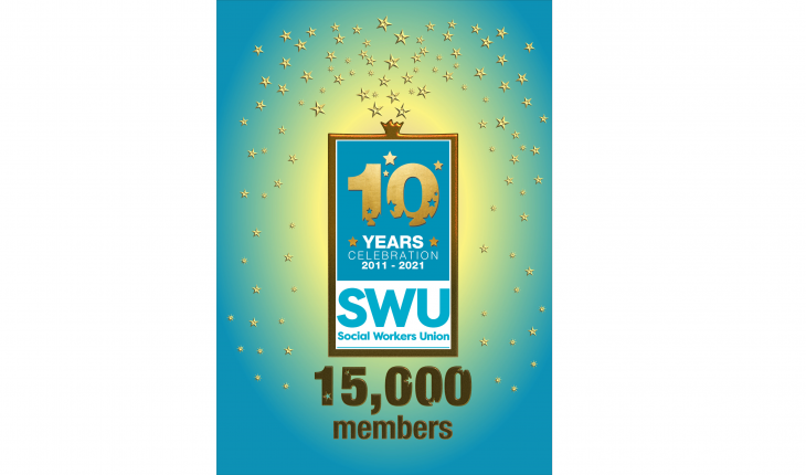 Celebrating 10 years, 2011-2021 | Social Workers Union (SWU) 15,000 members