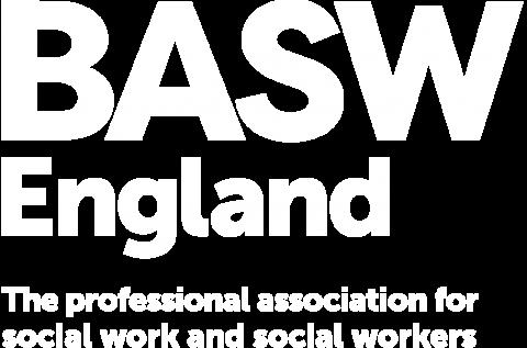 BASW England white logo