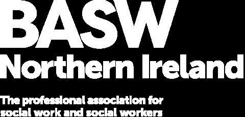 BASW Northern Ireland white logo