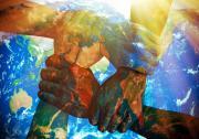 Hands linked around the world