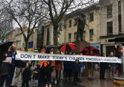 BASW Cymru take action against Homelessness in peaceful protest