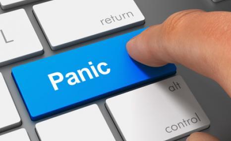 Pressing panic button on keyboard