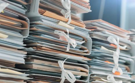 Shelves full of documents