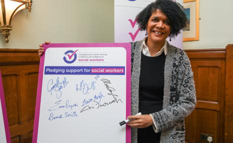 MP supports social worker working conditions campaign