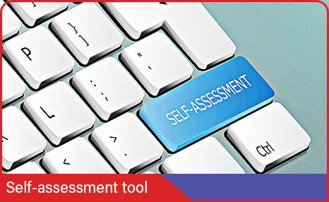 Keyboard with self-assessment written on a key