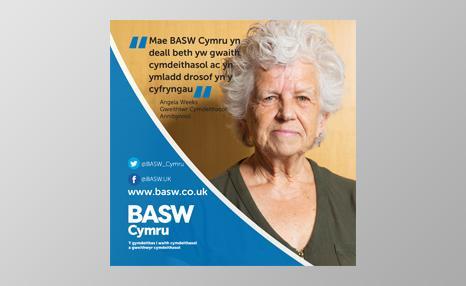 BASW Cymru promotional poster (Welsh language)