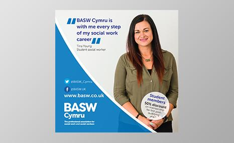 BASW Cymru student promotional poster