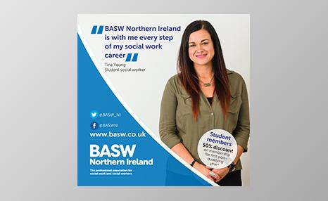 BASW Northern Ireland student promotional poster
