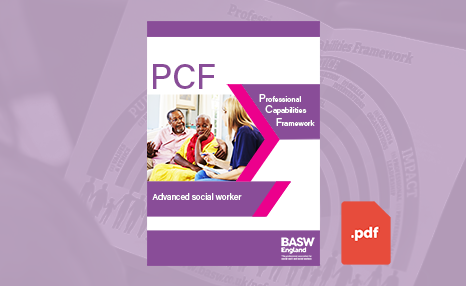 PCF - Advanced social worker (PDF) front cover