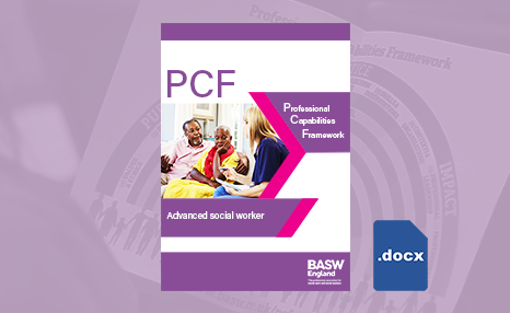 PCF - Advanced social worker (Word) front cover