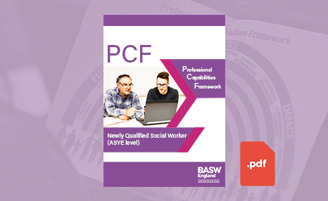 PCF - Newly qualified social worker (ASYE) (PDF) front cover