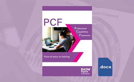 PCF - Point of entry to training (MS Word) front cover