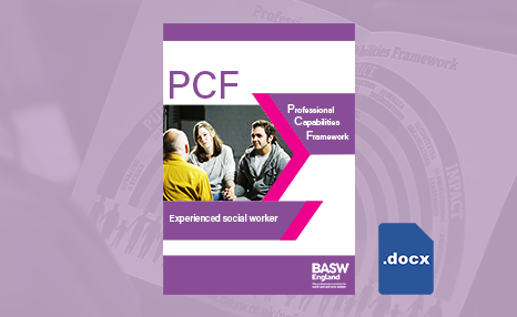 PCF - Experienced social worker (Word) front cover