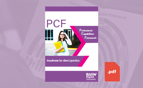 PCF - Readiness for direct practice (PDF) front cover