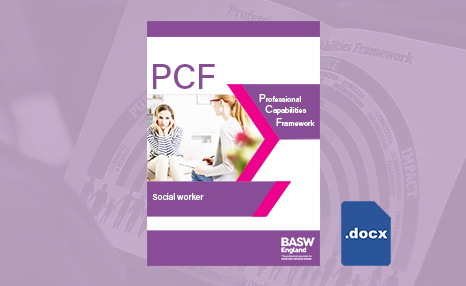 PCF - Social worker (Word) front cover