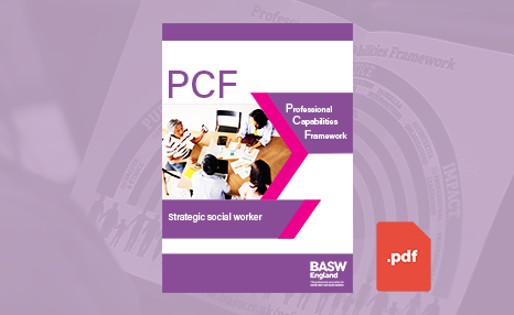 PCF - Strategic social worker (PDF) front cover