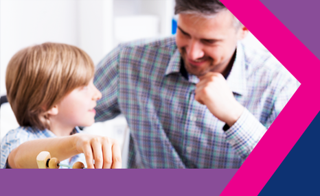 PCF - End of first placement: Male social worker with boy