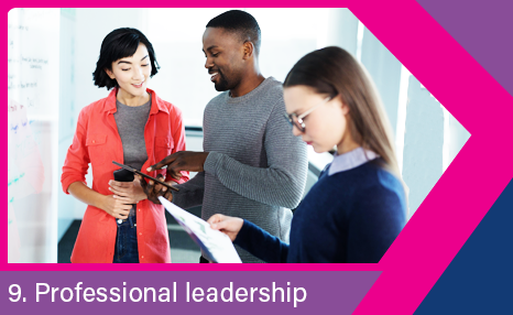 Professional leadership: People in training/meeting