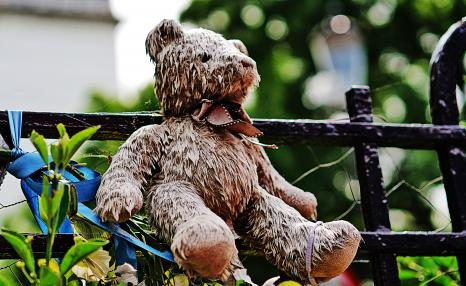 Bear left at Grenfell Tower memorial