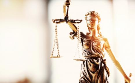 Values and ethics: Lady Justice with scales